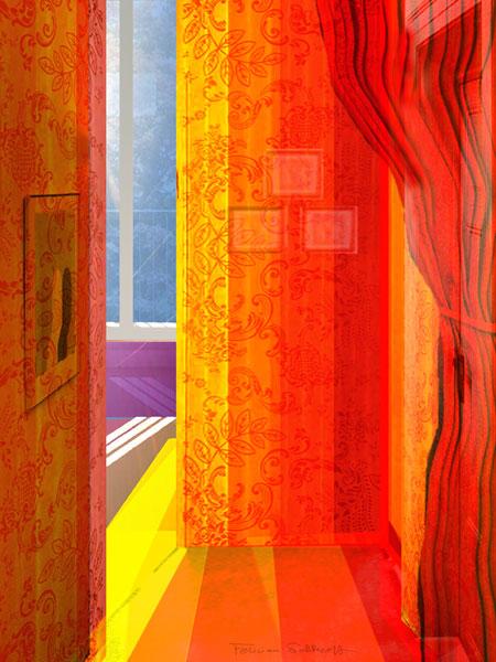 the unhappened room I by Brigitte Felician Siebrecht