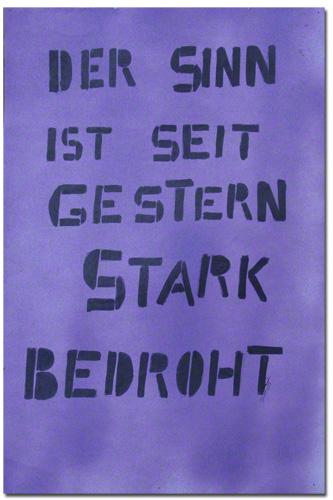 Der Sinn (c) Brigitte Felician Siebrecht 1983-1989