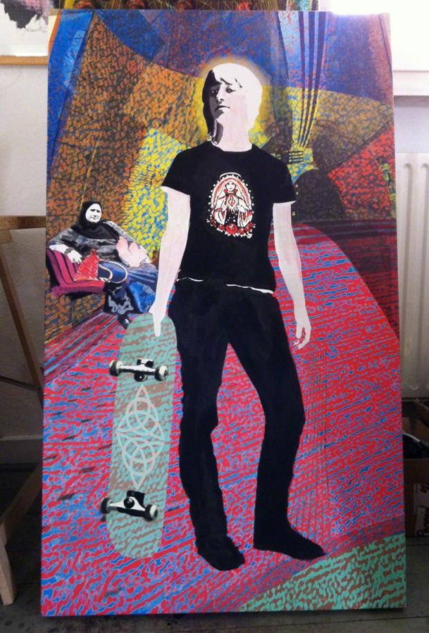 """""""Skating selbdritt"""" aus der Serie """"Layers:of:Life"""" von Brigitte Felician Siebrecht"""