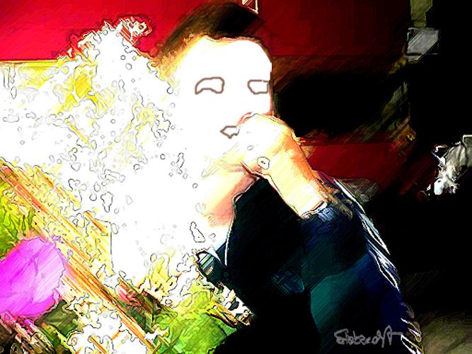 Blumenstrauss / People with out.faces / Brigite Felician Siebrecht
