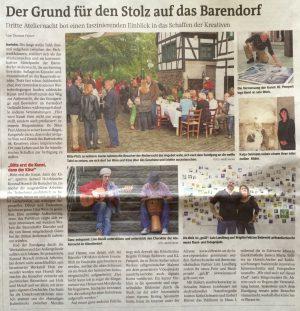 Ateliernacht Barendorf 2014, WAZ