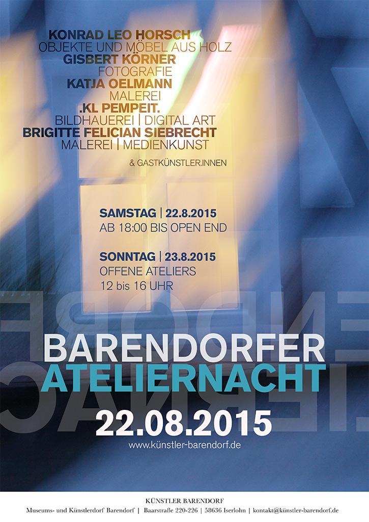 Plakat Ateliernacht Barendorf 2015