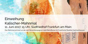 Einweihung Kalischer Mahnmal, Frankfurt