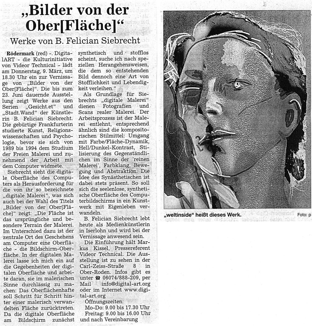 Bilder von der [Ober]Fläche, Offenbach Post 02.03.2006