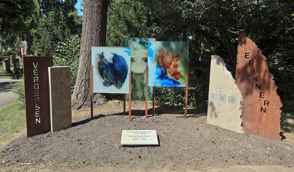 Das Kalischer-Mahnmal erinnert auf dem Südfriedhof an die Pogromopfer des Nationalsozialismus. Foto: Rolf Oeser