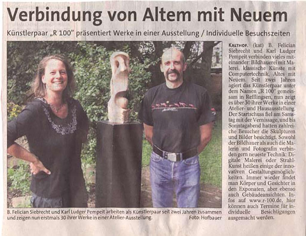 Verbindung von Altem mit Neuem, Iserlohner Kreisanzeiger 22.08.2006