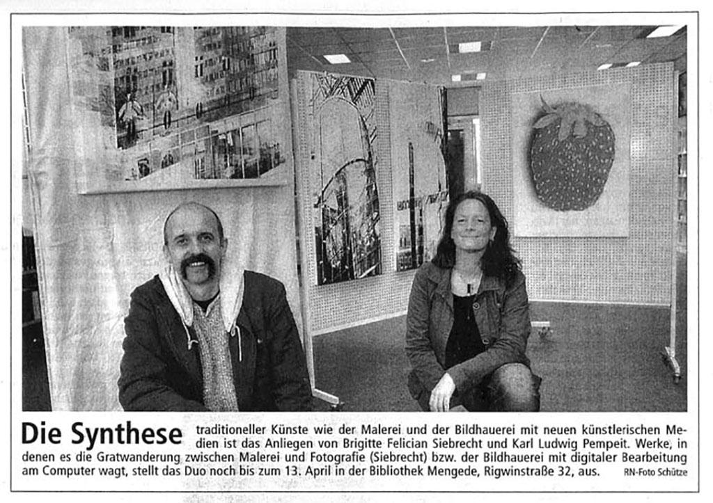 Erweiterung der Fläche: Die Möglichkeiten einer Digitalen Kunst, Ruhrnachrichten, 07.03.2007