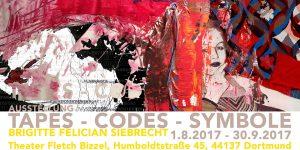 "Ausstellung ""TAPES – CODES – SYMBOLE"", Fletch Bizzel Dortmund"