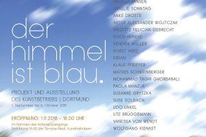 """Ausstellung """"Der Himmel ist blau"""" 1.9.2018 – 6.10.2018"""