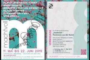 """Ausstellung """"machtvoll"""" 11.5. - 22.6.2019"""